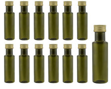 12 leere Glasflaschen Flaschen Dorica Antk Grün 100ml & ETIKETTEN Gold