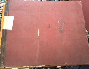 Vintage Ledger 1941 WW2 Seed Grain Company Sales Accounts Book Farming Food