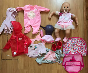 Baby Annabell Interactive Doll With Outfits Bundle Zapf
