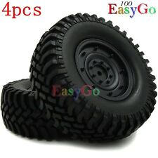 4pcs RC 1/10 100mm 1.9'' Soft Tires Wheels for Axial Tamiya RC4WD Crawler Truck