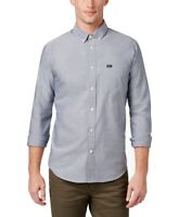 RVCA Mens Shirt Blue Size Small S Button Down Slim Fit Chest Pocket $55 #045