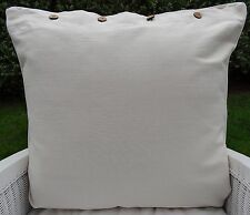 "LARGE CUSHION COVER 60 x 60 ""BONE"" GREAT SIZE FOR COUCH, FLOOR OR DAYBED"