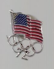 1972 US Olympic Pin USOC USA Flag Rings Sapporo Munich
