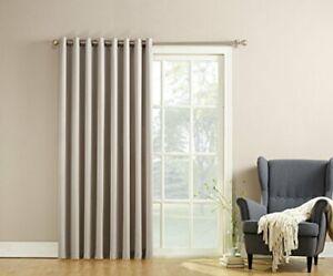 Barrow Extra-Wide Energy Efficient Sliding Patio Door Curtain Panel w/ Pull Wand