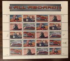 US 1999 33c All Aboard Trains Sheet of 20 Stamps Scott #3333-3337 MNH, OG