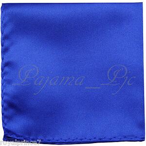 New Men's Royal Blue Micro Fiber Solid Handkerchief Pocket Square Hanky Wedding
