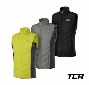 Men's Running Jacket Gilet TCA Excel Runner Lightweight Bodywarmer Zip Pockets