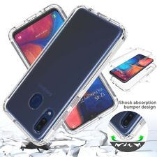 For Samsung Galaxy A20S Clear Shockproof Hard Rubber Bumper Phone Case Cover