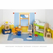 Puppenmöbel Kinderzimmer, goki 51746, viel Zubehör, inkl. Versand