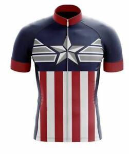 Cycling Jersey Captain America  Short Cycling jersey Men & Women