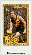 2010 AFL Herald Sun Trading Cards Best & Fairest BF12 Brett Deledio (Richmond)