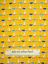 Sail Tug Boat Fabric ~ 100% Cotton By The Yard ~ Timeless Treasures MINI-C2414