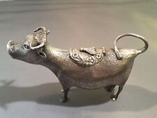 Sterling Silver English Cow Creamer