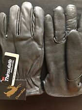 BLACK DEERSKIN GLOVES SZ LARGE WITH 100 GRAM 3M THINSULATE - NEW WITH TAGS