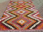 "Vintage Anatolia Classic Kilim Rugs, Handmade Kelim, Large Rug, Carpet 78""x117"""