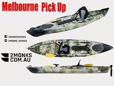 Fishing Kayak Single Sit-On Pro 3.6M incl Seat Paddle Rudder Melbourne GreenCamo
