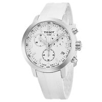 Tissot Men's PRS 200 White Rubber Chronograph Swiss Quartz Watch T0554171701700