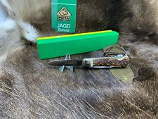 1972 Vintage Puma 997 Jagdmesser Knife With Nice Stag Handles With Puma Pouch