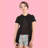 Collectif B&B Carla Black Crochet Vintage Mod Boho Cardigan BNWT FAST FREE SHIP!
