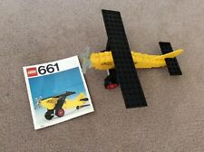 Lego 661 Vintage Plane Spirit of St Louis Yellow Plane with Instructions