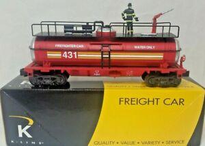 K LINE K632-6101 K LINE FDNY FIREFIGHTER TANK CAR 431 K LINE 431 FIREFIGHTER CAR