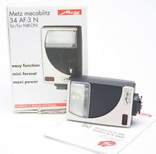 Metz Flash 34 AF-3N (3 N) For Nikon Cameras. Never Been Used. Manual.