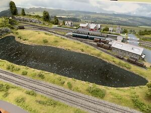 """Avail NOW 'Lake Side' N Gauge Model Railway Layout With Lake 5' x 32"""" exhibition"""