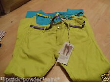 PRIMARK 2 PAIRS OF SKINNY JEANS  GREEN & LIGHT BLUE WITH BELTS SIZE14- 16 BNWT