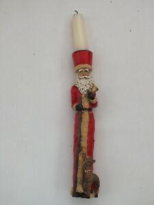 Rare Antique Vintage Ceramic Father Christmas Xmas Candle Stick/Holder