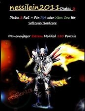 DIABLO 3 ROS ps4/XBOX ONE-Cacciatore di Demoni/demonhunter 150 portali 100% immortale