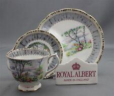 Royal Albert England SILVER BIRCH Pattern Bone China Tea Cup Hostess Tennis Set