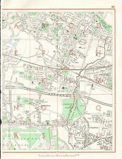 1964  VINTAGE LONDON STREET MAP -SOUTHALL,HAYES,CRANFORD,HEATHROW