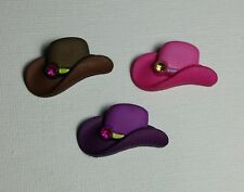 3D Cowgirl Hats  Fridge /Locker Magnets- 3 Piece Set