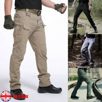 UK Mens Army Military Combat Cargo Trousers Hiking Waterproof Casual Work Pants