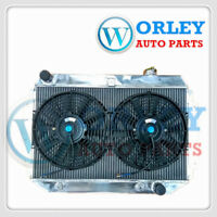 5 ROW RADIATOR FOR HOLDEN KINGSWOOD TORANA HQ HJ HX HZ V8 CHEVY ENGINE AT + FANS