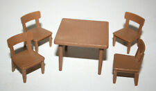 PLAYMOBIL VINTAGE TABLE ET 4 CHAISES FORT WESTERN 3419 3773 3806 3423