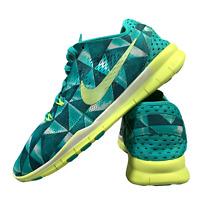 Nike Free Run TR Women's Shoes Size Uk 4.5 Green Running Gym Trainers EUR 38