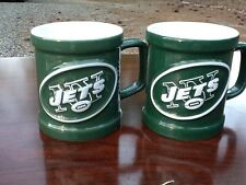 New York Jets Ceramic Mug NFL Set of 2
