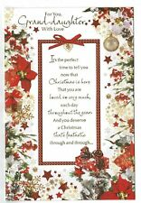 Granddaughter Christmas Card With Sentiment Verse