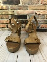 Tory Burch Wedge Sandals Women's Size 11 Tan