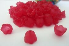 120 pce Red Acrylic Tulip Flower Beads 10mm x 7mm Jewellery Making Craft