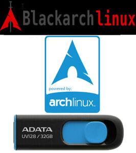 BlackArch Linux 2021.09.01 Bootable Live 32 Gb USB 3.2 Penetration Testing 64 Bt