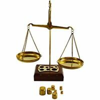 Brass Weighing Scale Balance Tarazu wit wts Measure Law Justice Gift Home Decor