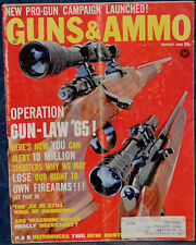 Vintage Magazine GUNS & AMMO August, 1965 !!! STONER 63 Weapons SYSTEM !!!
