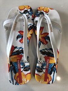 Ipanema White Thongs Sandals Brazil Size 37, US Size 8,Euro Size 39