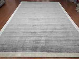 Handmade Hand Woven DBC Knotted Back Soft Lenzing Tencel Lyocell Silk Carpet Rug
