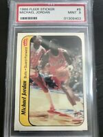 1986 Fleer Sticker #8 Michael Jordan Rookie Card PSA 9 MINT Last Dance RC 📈📈🔥