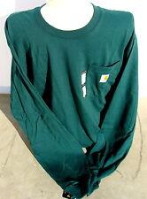 Carhartt K126 Long Sleeve Workwear Pocket T-Shirt  Hunter Green Large Regul