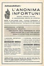 W9390 Assicurazioni Generali di Venezia - Pubblicità del 1939 - Old advertising
