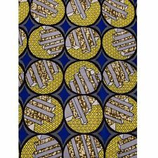 African Bar Graph Print Fabric BY 1/2 YARD Ankara style kitenge fancy wax p832